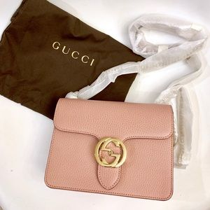 Gucci Interlocking Crossbody Pink